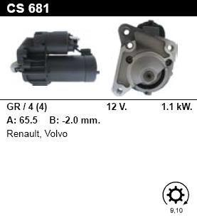 Стартер - RENAULT - CLIO - 1.2 - CS681