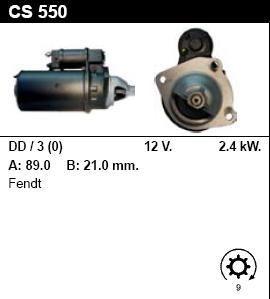 Стартер - FENDT - 614 - 6.2 DIESEL - CS550