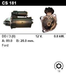 Стартер - FORD - CAPRI - 1.3 - CS181